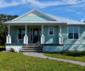 Casa prefabricada de madera modulares y Casa Móvil o Mobile Homes Azul Cielo