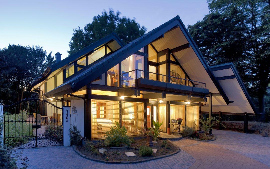 Casa prefabricada de madera modulares y Casa Móvil o Mobile Homes con Luces