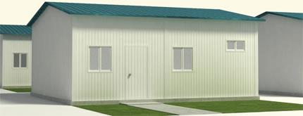 Casa Panel Sandwich con Tejado Azul