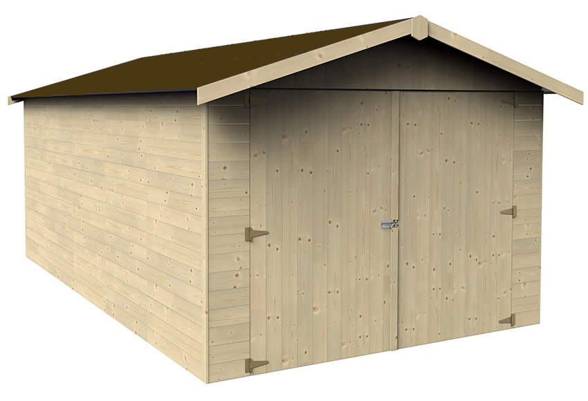 Garaje de Madera de Doble Puerta